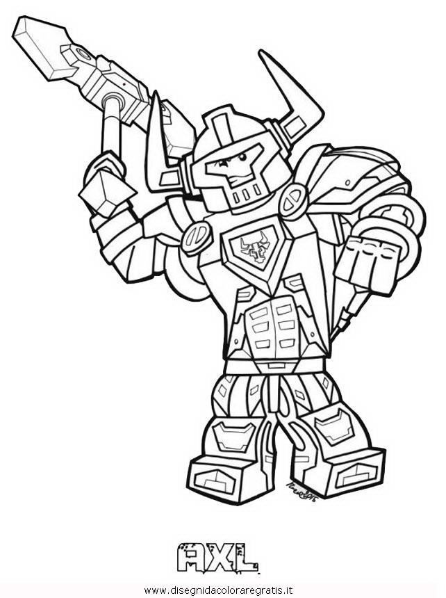 Disegno Lego Nexo Knights 33 Personaggio Cartone Animato Da Colorare