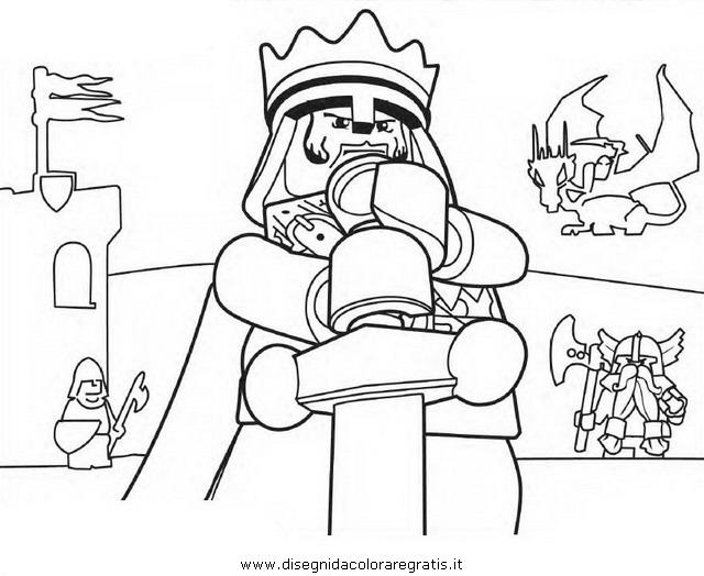 Disegno lego personaggio cartone animato da colorare
