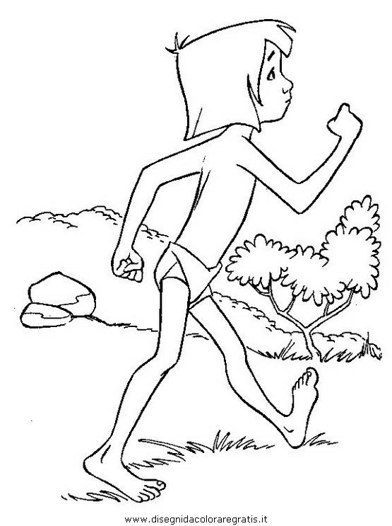 Disegno libro giungla personaggio cartone animato da