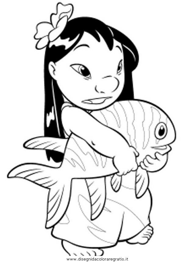 Disegno lilo stitch personaggio cartone animato da