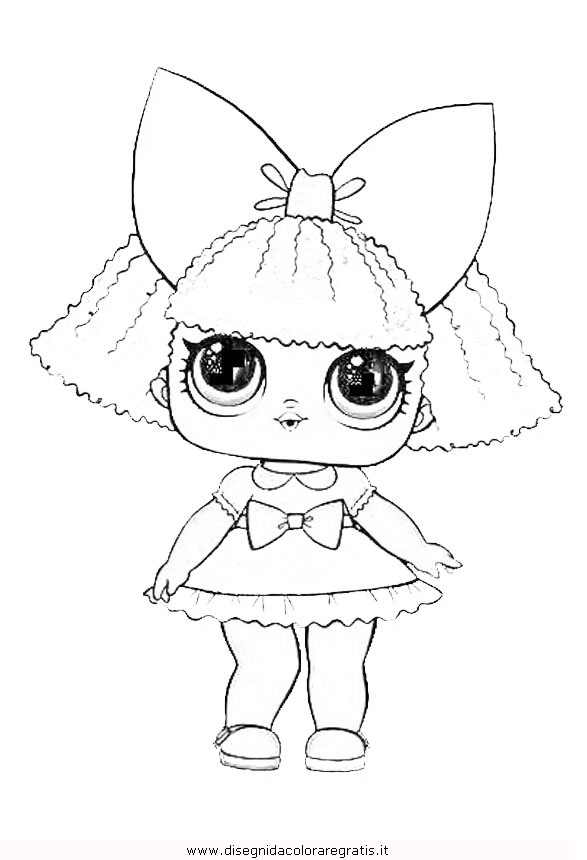 Раскраски куклы lol 118
