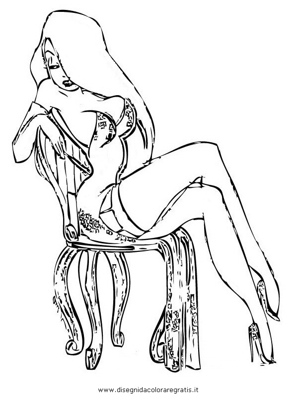 Jessica Rabbit Cartoon Drawing Sketch Coloring Page