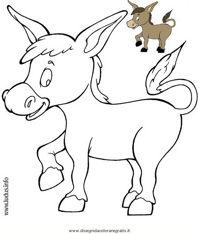 Disegno Asino Personaggio Cartone Animato Da Colorare