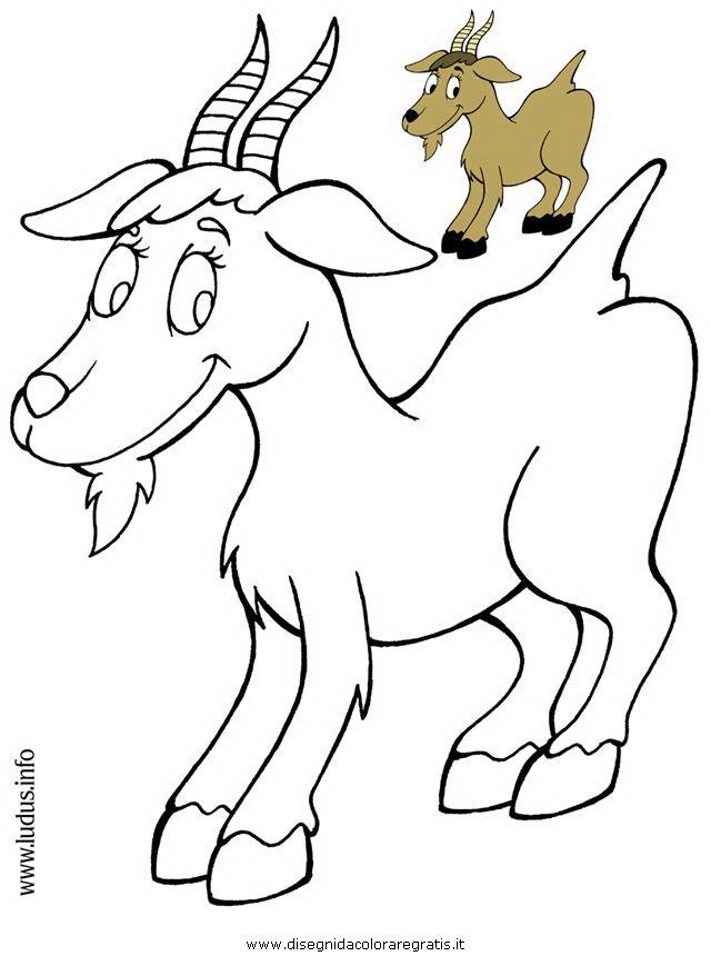Disegno capretta personaggio cartone animato da colorare