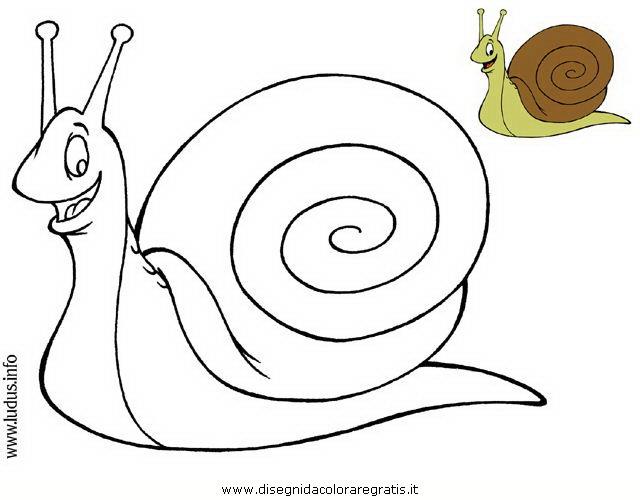 Disegno chiocciola personaggio cartone animato da colorare - Cartone animato animali da colorare pagine ...
