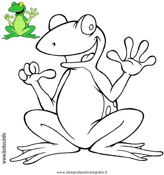 Disegno rana personaggio cartone animato da colorare