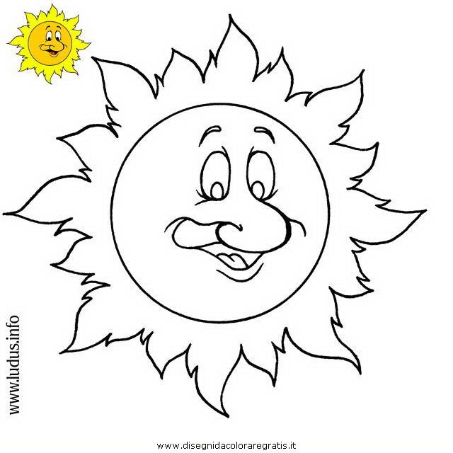 Disegno sole personaggio cartone animato da colorare for Immagini sole da colorare