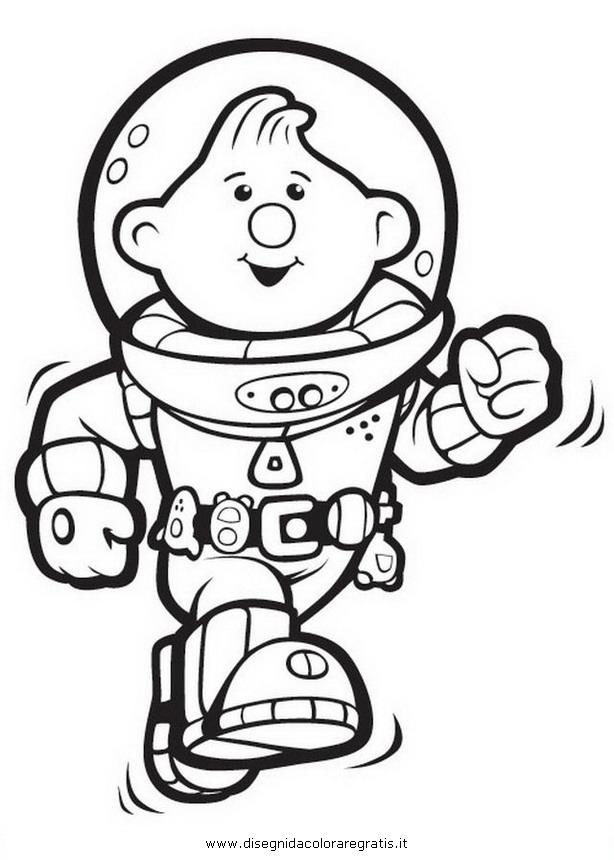 Disegno lunar jim personaggio cartone animato da colorare