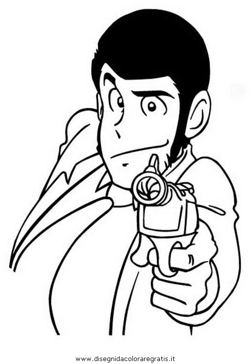 Disegno lupin 03 personaggio cartone animato da colorare for Cartoni animati da stampare e colorare