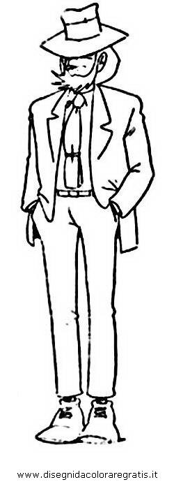 Disegno lupin personaggio cartone animato da colorare