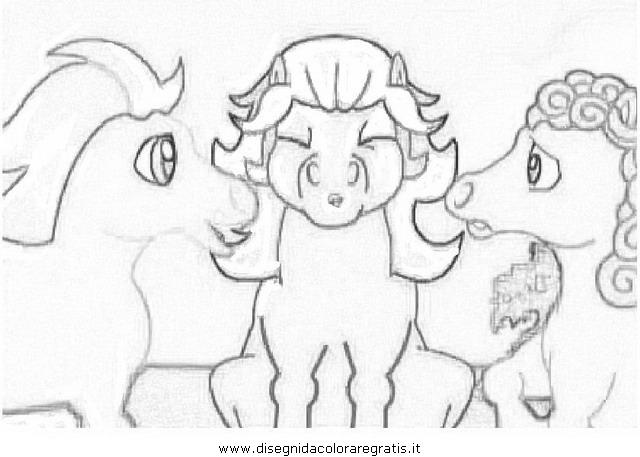 Disegno magiki personaggio cartone animato da colorare