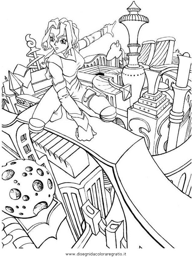 Disegno manga futuro personaggio cartone animato da colorare