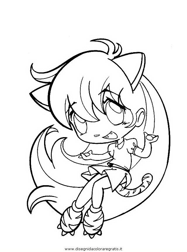 Disegno manga personaggio cartone animato da colorare