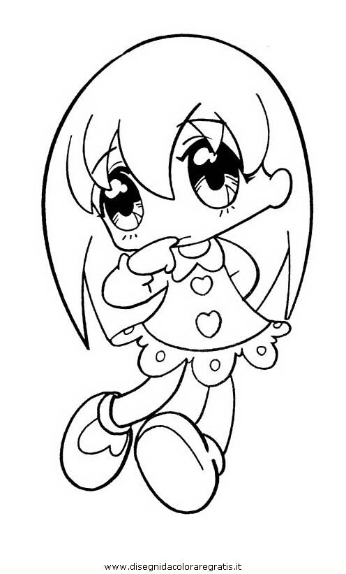 Disegno Manga 11 Personaggio Cartone Animato Da Colorare