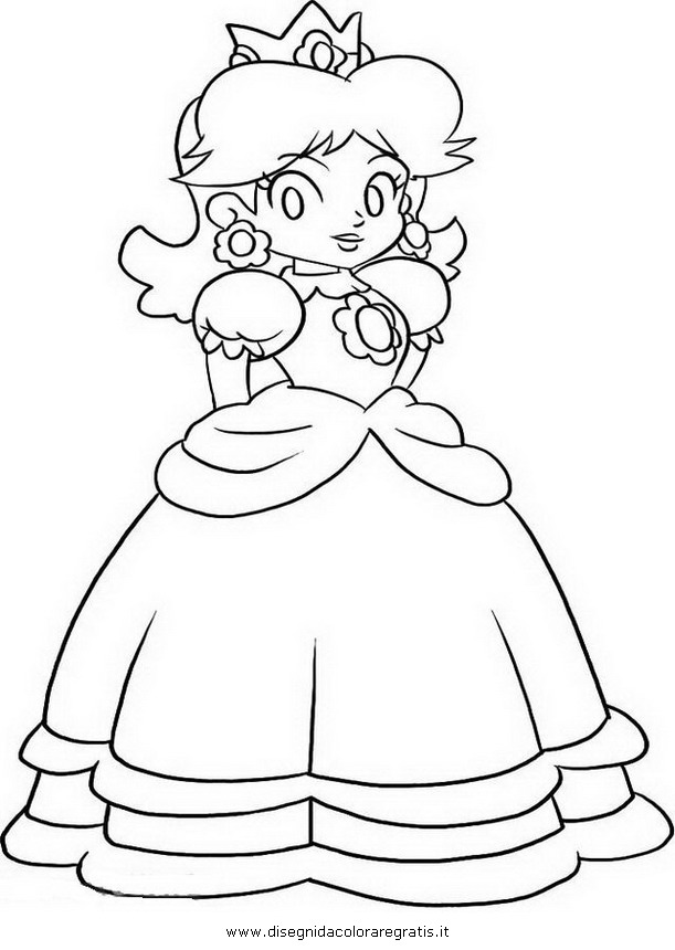 Disegno daisy mario personaggio cartone animato da colorare