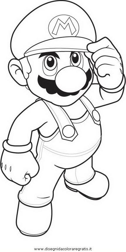 Disegno mario bros personaggio cartone animato da colorare