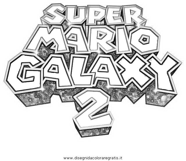 Disegno super mario galaxy personaggio cartone animato
