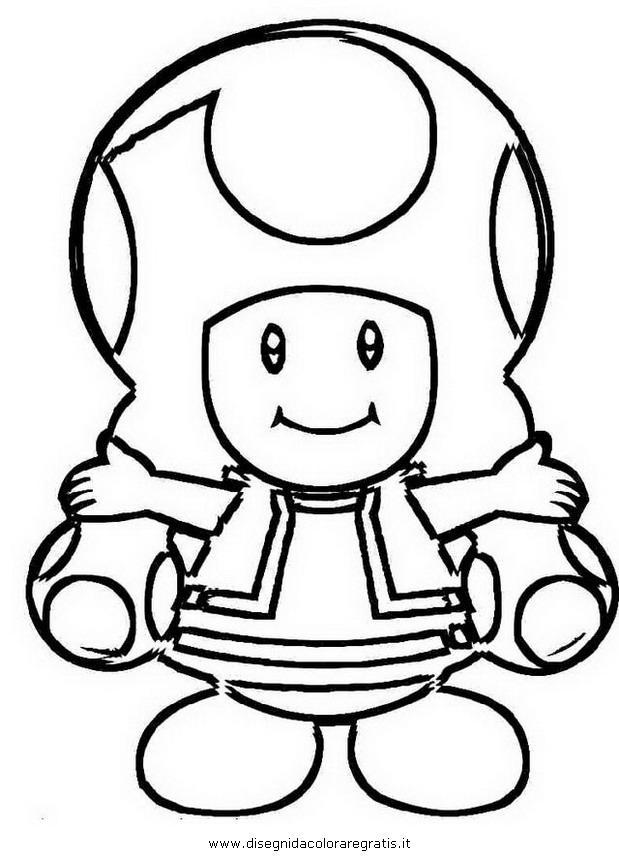 Disegno toadette personaggio cartone animato da colorare
