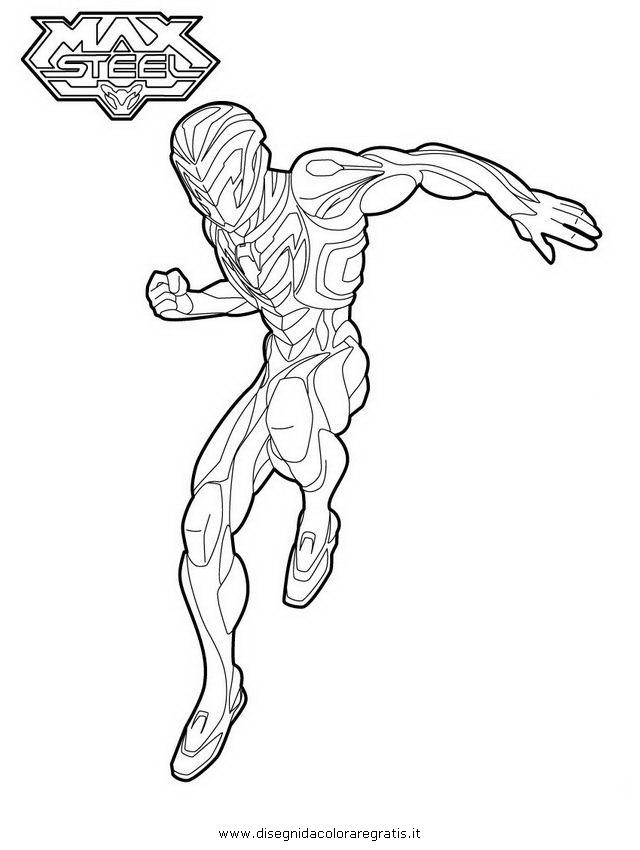 Disegno max steel personaggio cartone animato da colorare