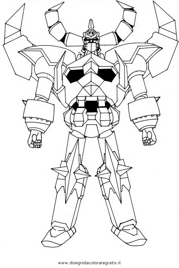 Disegno gaiking personaggio cartone animato da colorare