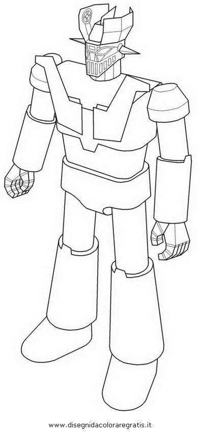 Disegno jeeg robot personaggio cartone animato da colorare