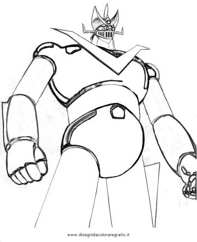 Disegno mazinga personaggio cartone animato da colorare