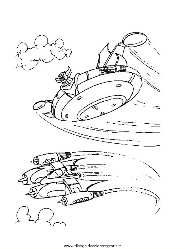 Disegno mazinga goldrake personaggio cartone animato