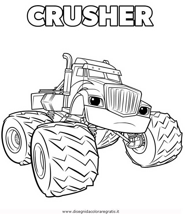 Disegno megamacchine crusher 2 personaggio cartone for Immagini di blaze