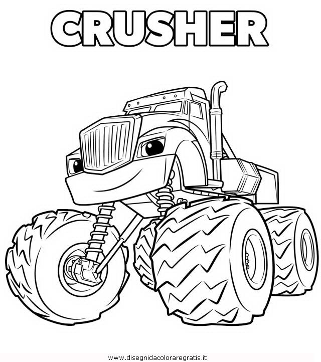 Disegno megamacchine crusher personaggio cartone animato for Blaze e le mega macchine da colorare