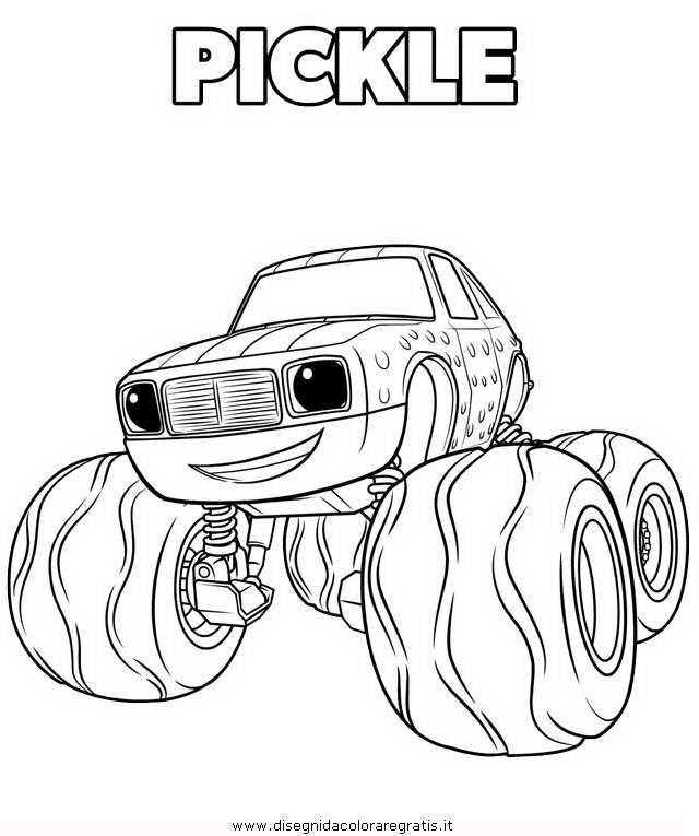 Disegno megamacchine pickle 2 personaggio cartone animato for Cartoni blaze
