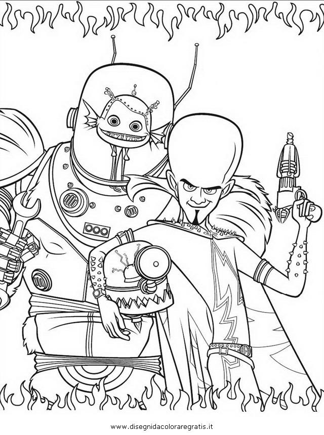 Disegno megamind 12 personaggio cartone animato da colorare for Megamind coloring pages