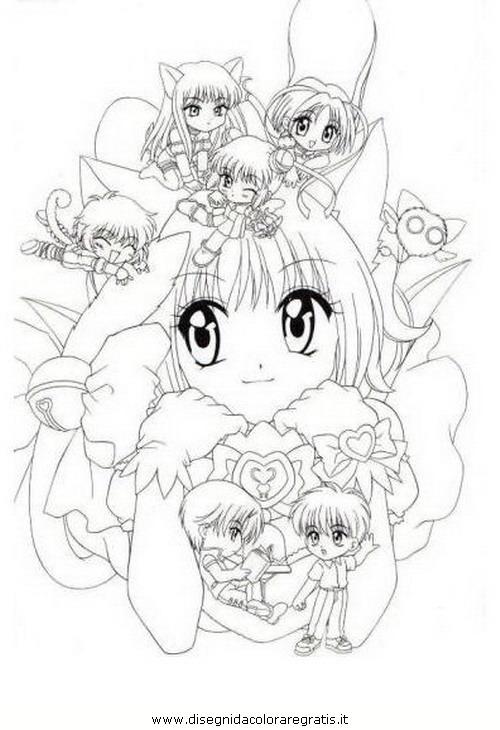 Disegno Mew Mew 26 Personaggio Cartone Animato Da Colorare