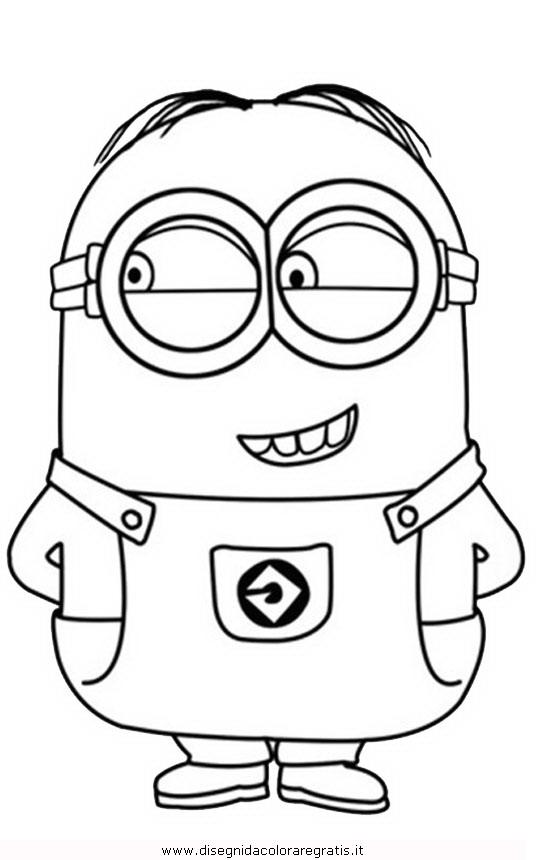 Disegno minions 09 personaggio cartone animato da colorare for Minions immagini da stampare