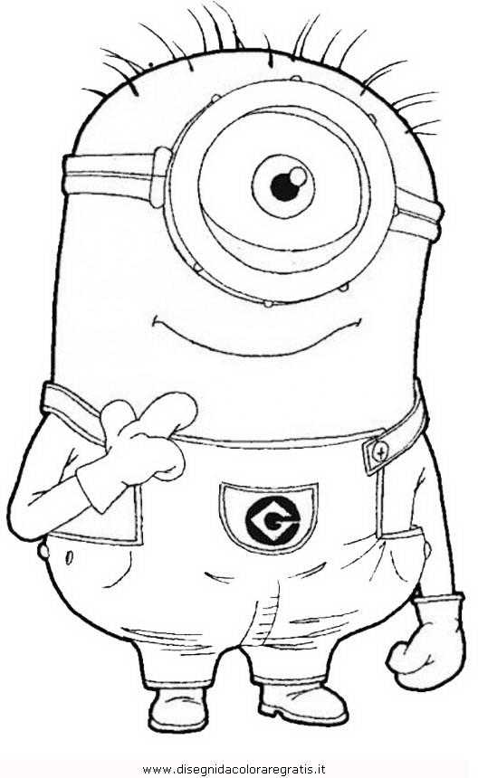 Disegno minions 10 personaggio cartone animato da colorare for Minions immagini da colorare