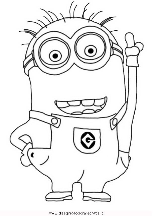 Disegno minions personaggio cartone animato da colorare