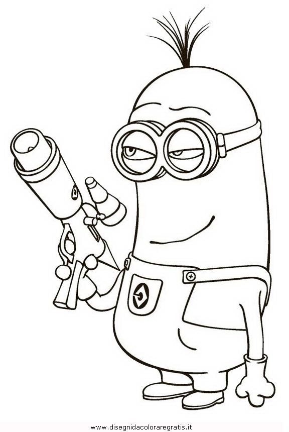 Disegno minions 12 personaggio cartone animato da colorare for Minions immagini da colorare