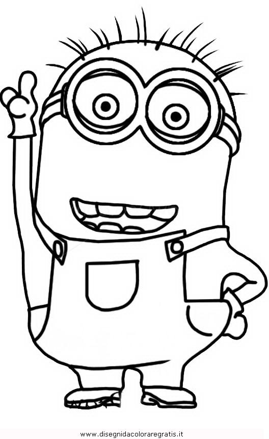 Disegno minions 13 personaggio cartone animato da colorare for Minions immagini da stampare