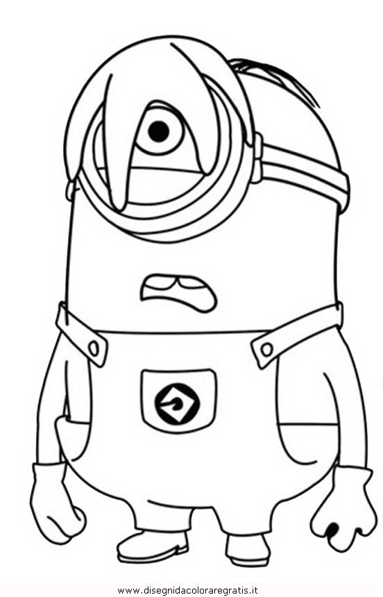 Disegno minions 18 personaggio cartone animato da colorare for Immagini dei minions da colorare