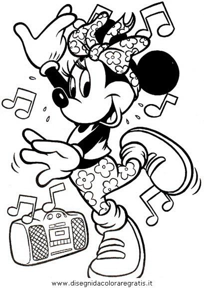 Stampa E Colora Minnie Cartoni Animati