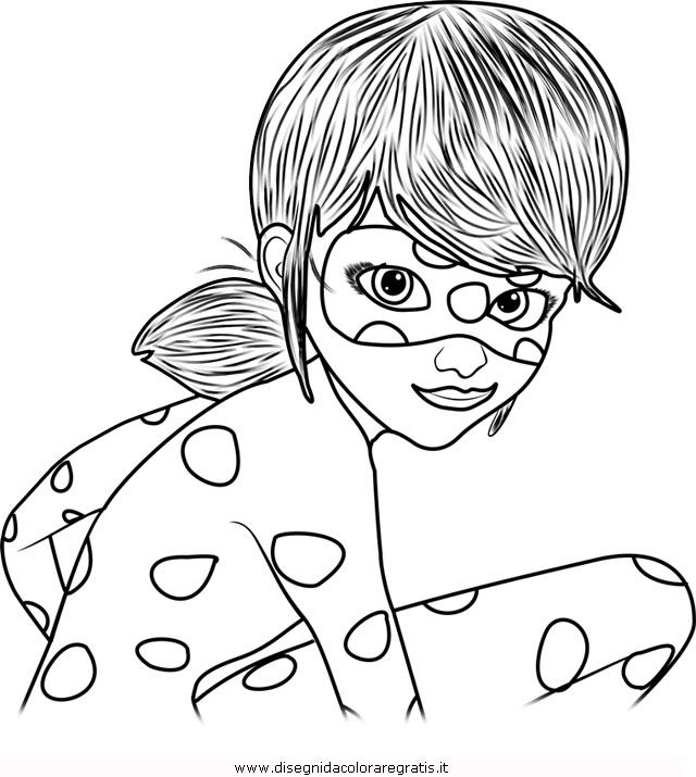 Disegno Miraculous Ladybug 4 Personaggio Cartone Animato Da Colorare