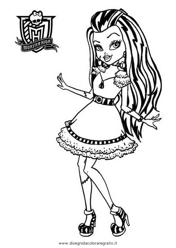 Disegno frankie personaggio cartone animato da colorare