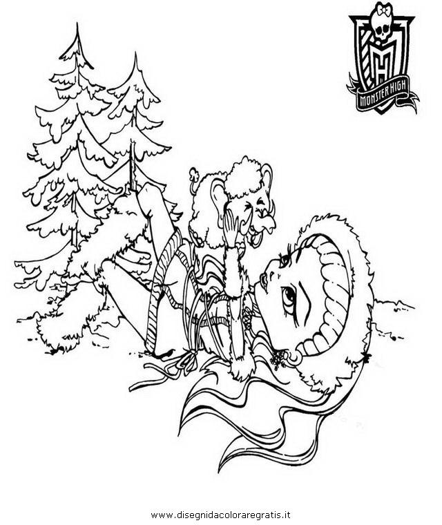 Disegno abbey bominable personaggio cartone animato da
