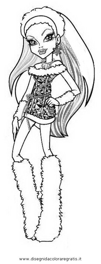Disegno monster high abbey personaggio cartone animato da for Monster high abbey coloring pages