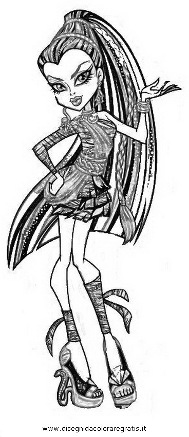 Disegno monster high nefera personaggio cartone animato