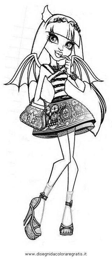 Disegno monster high rochelle personaggio cartone animato