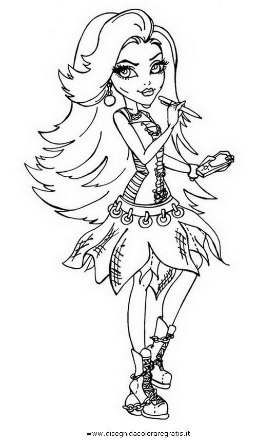 Disegno spectra personaggio cartone animato da colorare