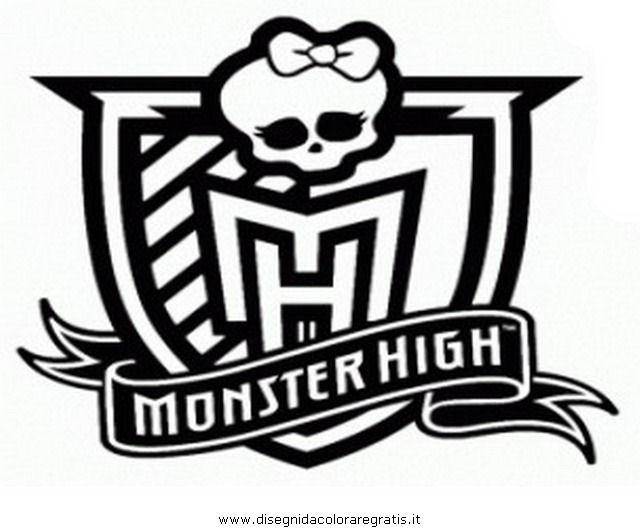 Disegno stemma monster personaggio cartone animato da