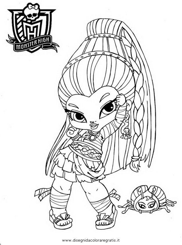 Disegno zbaby nefera de nile personaggio cartone animato