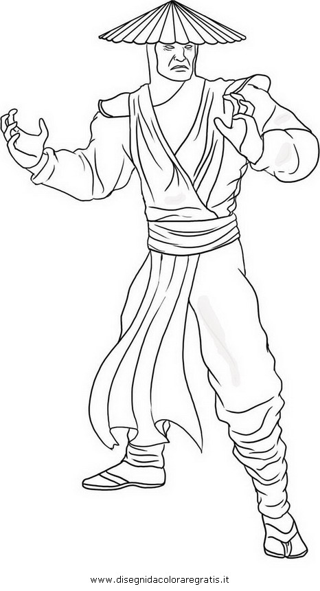 Free coloring pages of mortal kombat boop