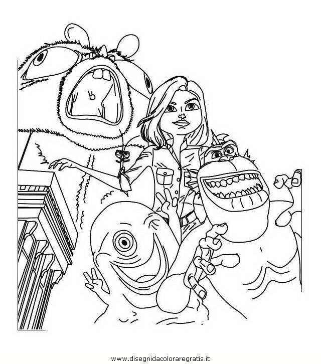 Disegno mostri contro alieni personaggio cartone
